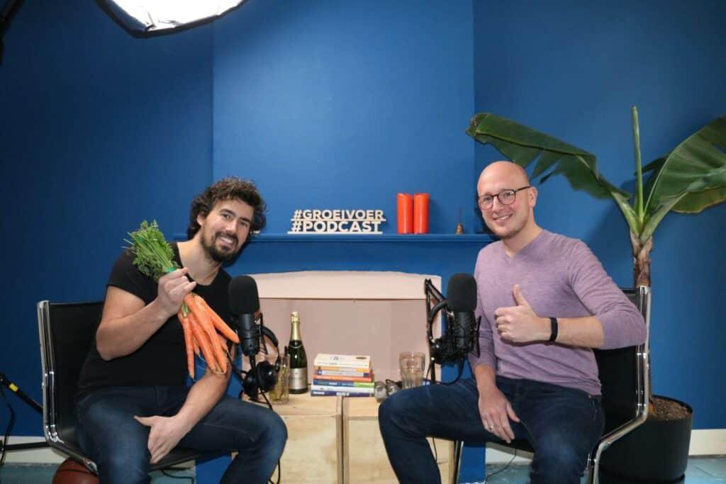 Bas Urlings en Gerhard te Velde in de Podcast opname studio